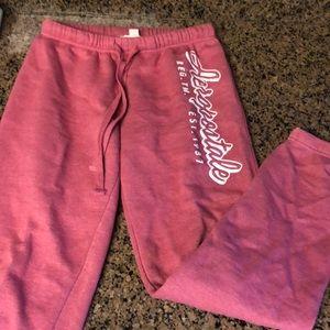 Aero Pink Sweatpants with adjustable straps | M |